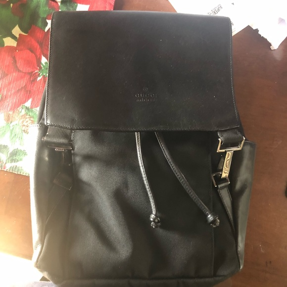 3c1999d562a Gucci Handbags - Gucci Nylon Leather small back pack